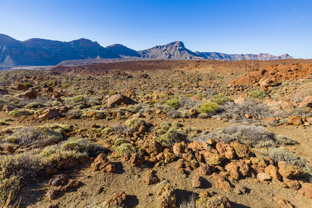 High volcanic mountain range of Tenerife, Canary Island, Spain