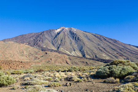 Pico del Teide is the highest peak in Spain. Its height is approximately 7,500 m, which is 3,718 m above sea level. Tenerife, Canary Islands, Spain