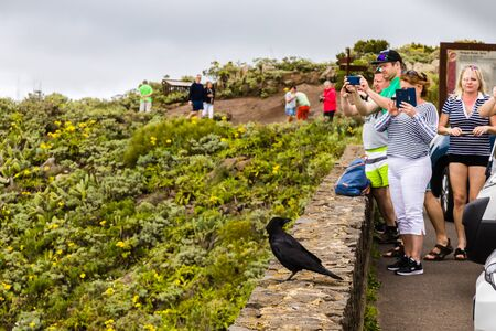 Tenerife, Spain -  April 01, 2019: Mountain viewpoint on the road to Tamaimo, Tenerife, Canary Islands, Spain Editorial