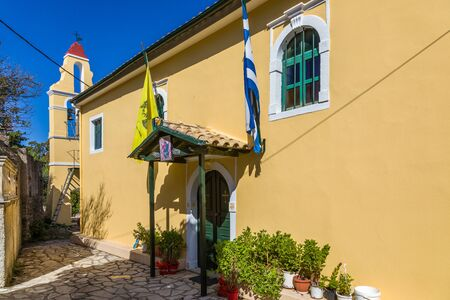 In the streets of the village of Kouramades to the island of Corfu, Greece