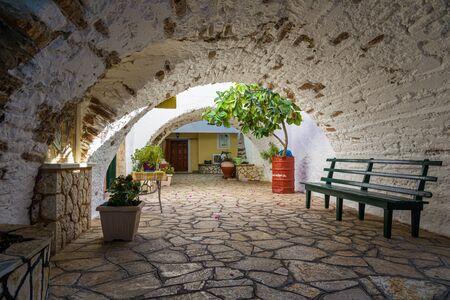 Monastery of Paleokastritsa on the island of Corfu, Greece