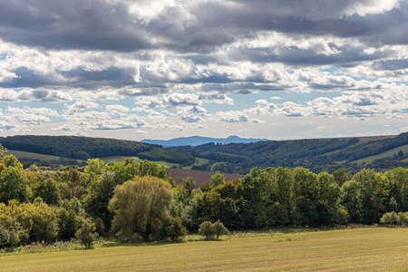 Autumn landscape around the castle Branc - Europe, Slovakia, area Kopanice Stock Photo