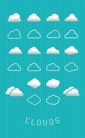 Set of Clouds Illustration
