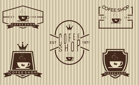 coffee beans: Set of coffee shop 2