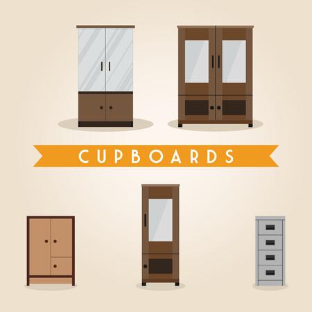 sideboard: Furniture set. Cupboards