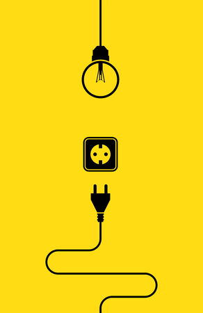 electricity icon: Electricity icon flat