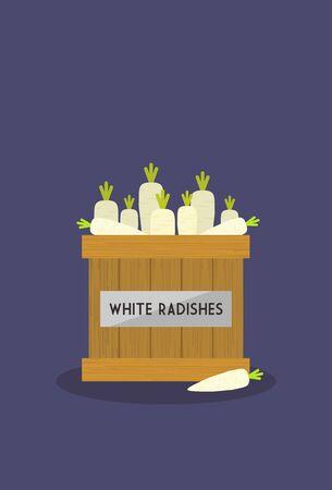 radishes: White Radishes
