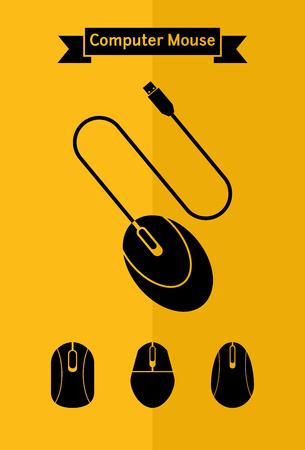 Computer mouse icon set Illusztráció