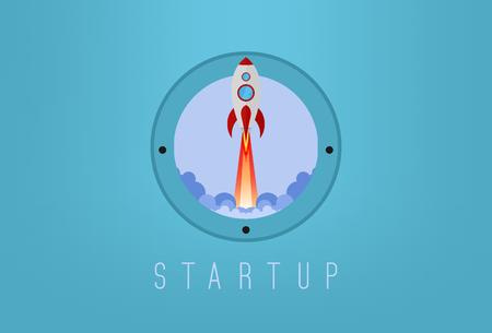 Start up space rocket
