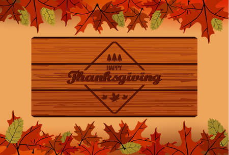 Happy Thanksgiving Illusztráció