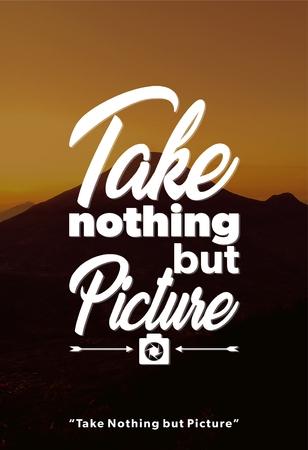 Inspiring Adventure Quote Stock fotó