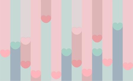 seamless pattern with hearts Illusztráció
