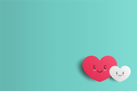 valentine background with hearts character