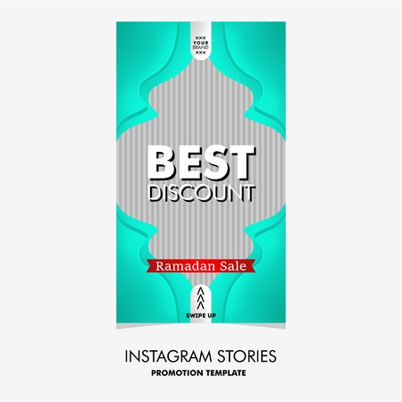colorful fashion sale stories template for Ramadan event