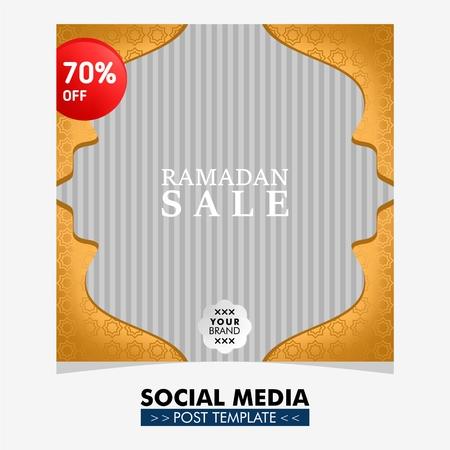 Social media post design template for ramadan event Illusztráció