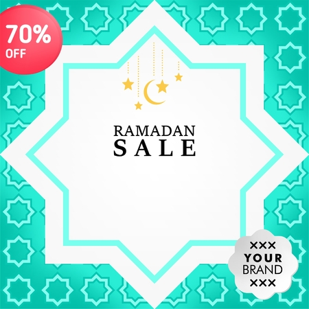 Social media post design template for ramadan event Vectores