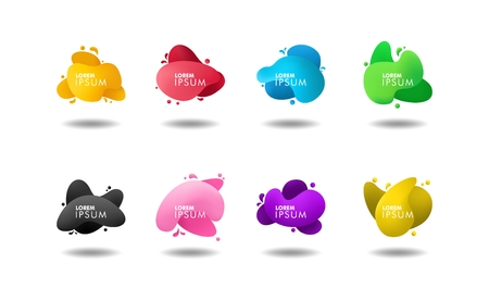 set of abstract liquid color banner