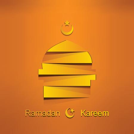 ramadan kareem background in paper craft style