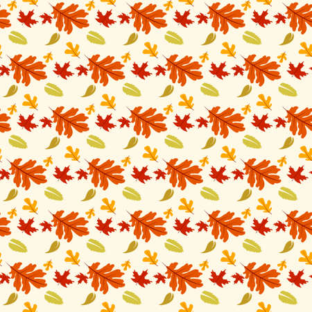 floral seamless pattern with autumn leaves