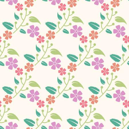 floral seamless pattern with pastel color Illusztráció