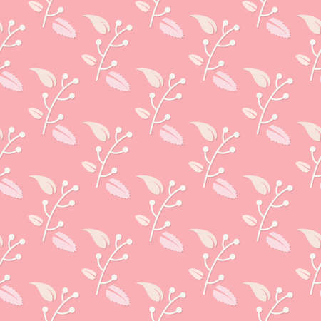 floral seamless pattern with pink background