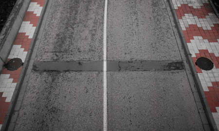 An old gray road texture