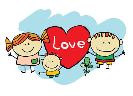 Cute cartoon kids Stock Vector - 15173183