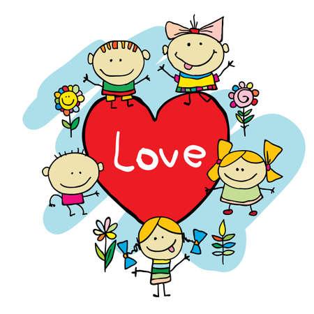 Cute cartoon kids Stock Vector - 15173185