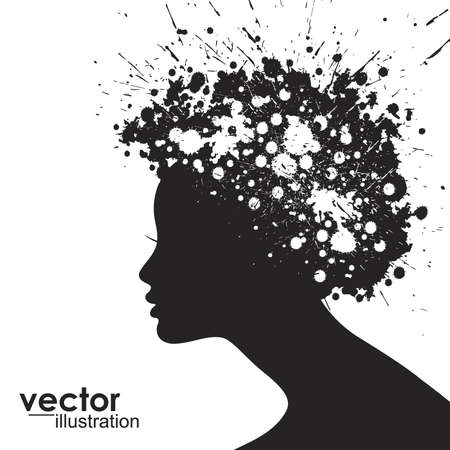 Woman face silhouette Stock Vector - 15173221