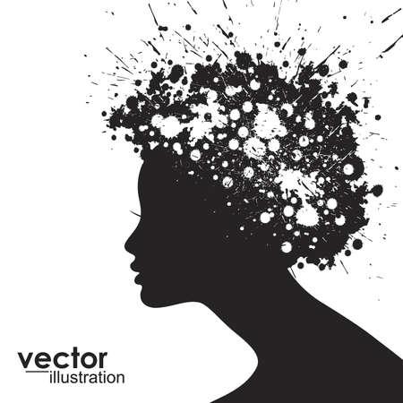 Woman face silhouette Stock Vector - 15173221