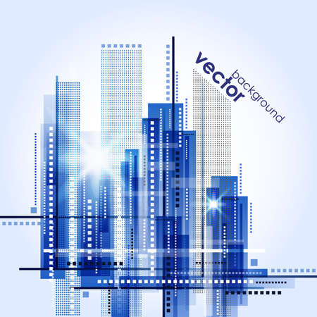 사무실 건물: 도시 풍경