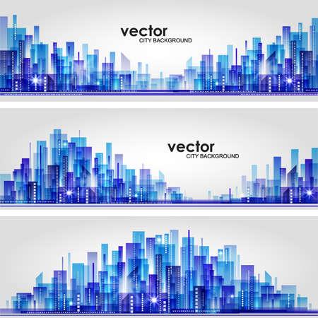 City skyline  Header set