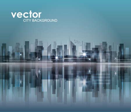panorama city panorama: Ciudad Paisaje Vectores