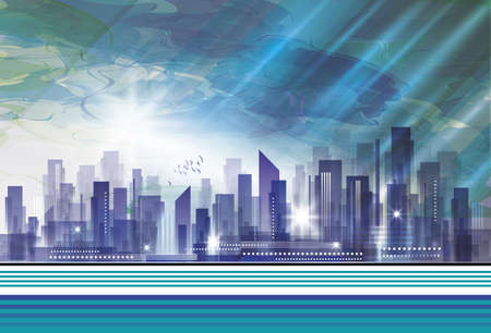 City Landscape Stock Vector - 15906107