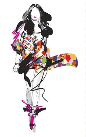 moda casual: Fashion Sketch modelo
