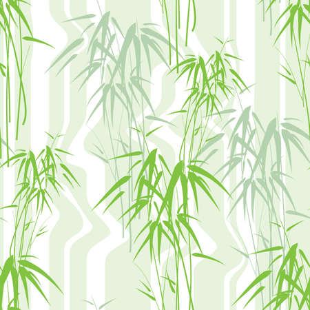 plante tropicale: Seamless background with bamboo Illustration
