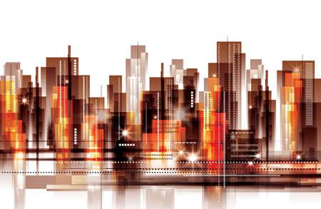 City skyline Иллюстрация