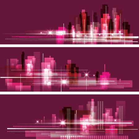 Modern cityscape concept background banners Stock Vector - 16301086
