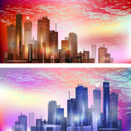 Modern City landscape Stock Vector - 17063802