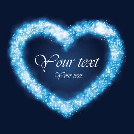 Light glowing heart Stock Vector - 17084974