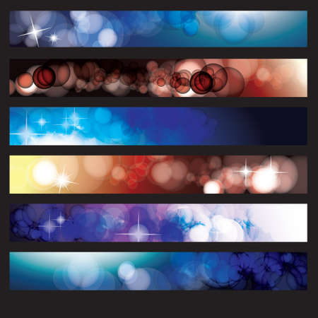 website banner: Abstract Background banner set