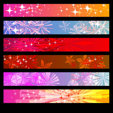 star of life: Abstract Background banner set