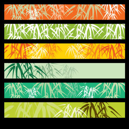 Bamboo banner set Vector