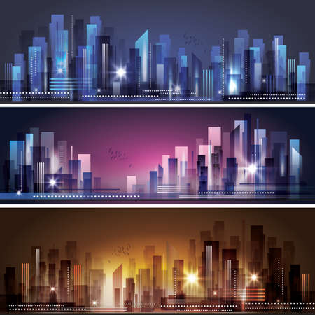 City skyline Vectores