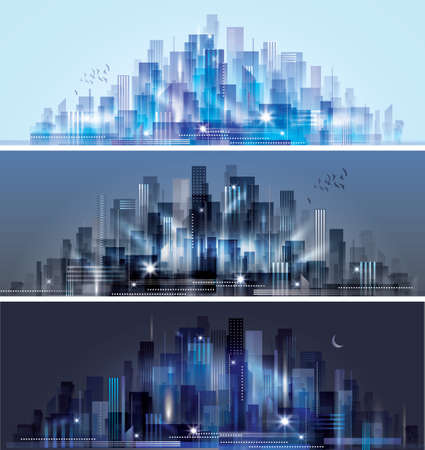 building sketch: City skyline Illustration