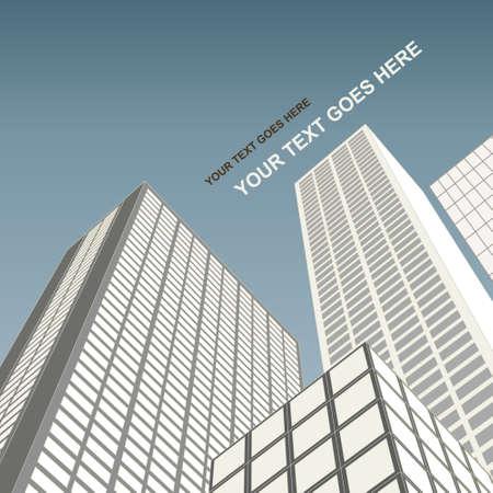 Cityscape architecture Иллюстрация