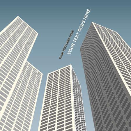 architectural elements: Cityscape architecture Illustration