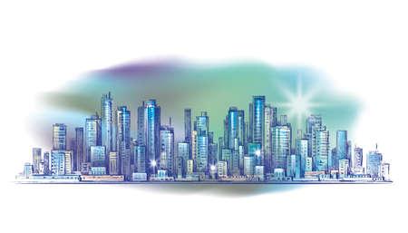 financial district: City landscape