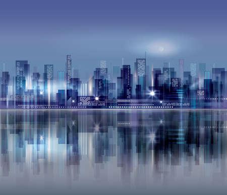 urban background: Night city background. Urban cityscape