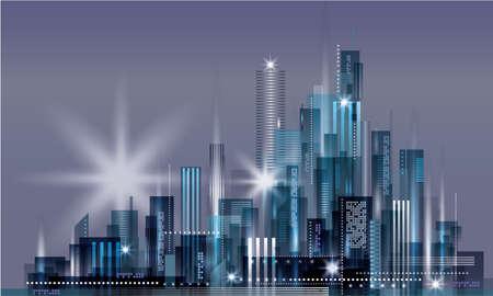 Night city background. Urban cityscape
